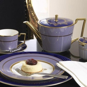Wedgwood Nature's Anthemion Blue servies